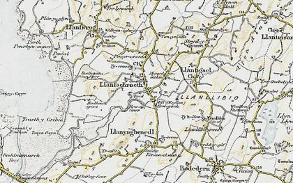 Old map of Llanfachraeth in 1903-1910