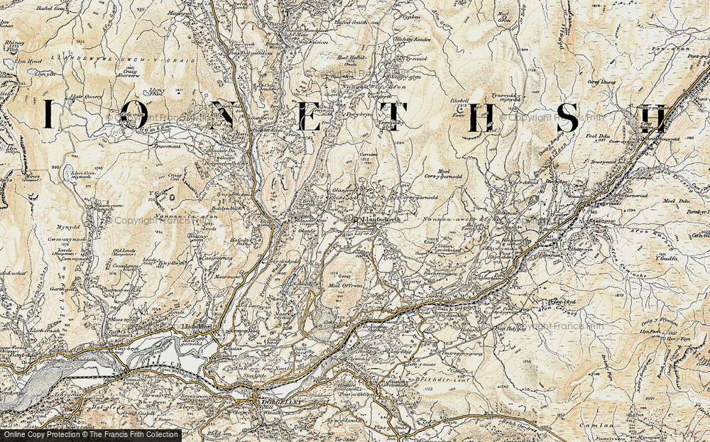 Old Map of Historic Map covering Afon Babi in 1902-1903