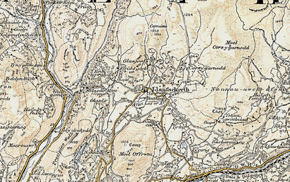 Old map of Afon Babi in 1902-1903