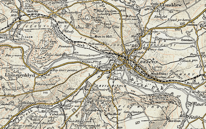 Old map of Abergwdi in 1900-1901
