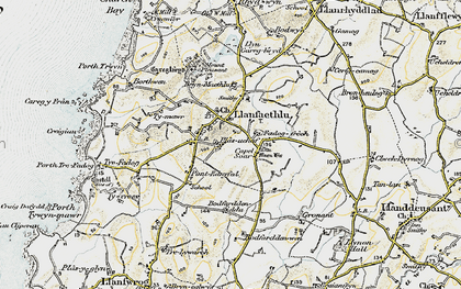 Old map of Llanfaethlu in 1903-1910