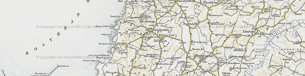 Old map of Llanfaethlu in 1903-1910