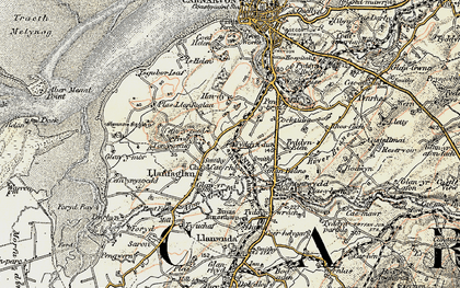 Old map of Ysgubor Isaf in 1903-1910