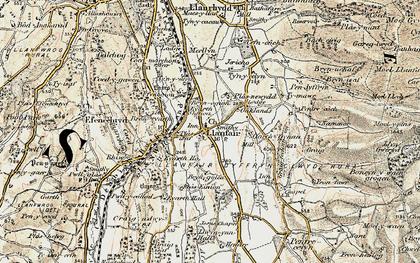 Old map of Llanfair Dyffryn Clwyd in 1902-1903