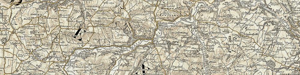 Old map of Ysgubor-newydd in 1902-1903