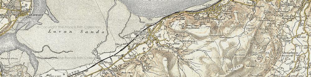Old map of Llanfairfechan in 1903-1910