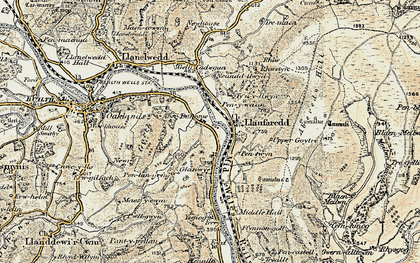 Old map of Aberduhonw in 1900-1902