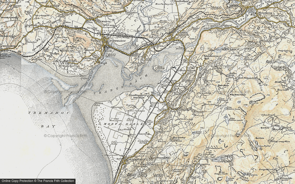 Old Map of Historic Map covering Afon y Glyn in 1903