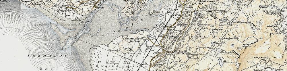 Old map of Afon y Glyn in 1903