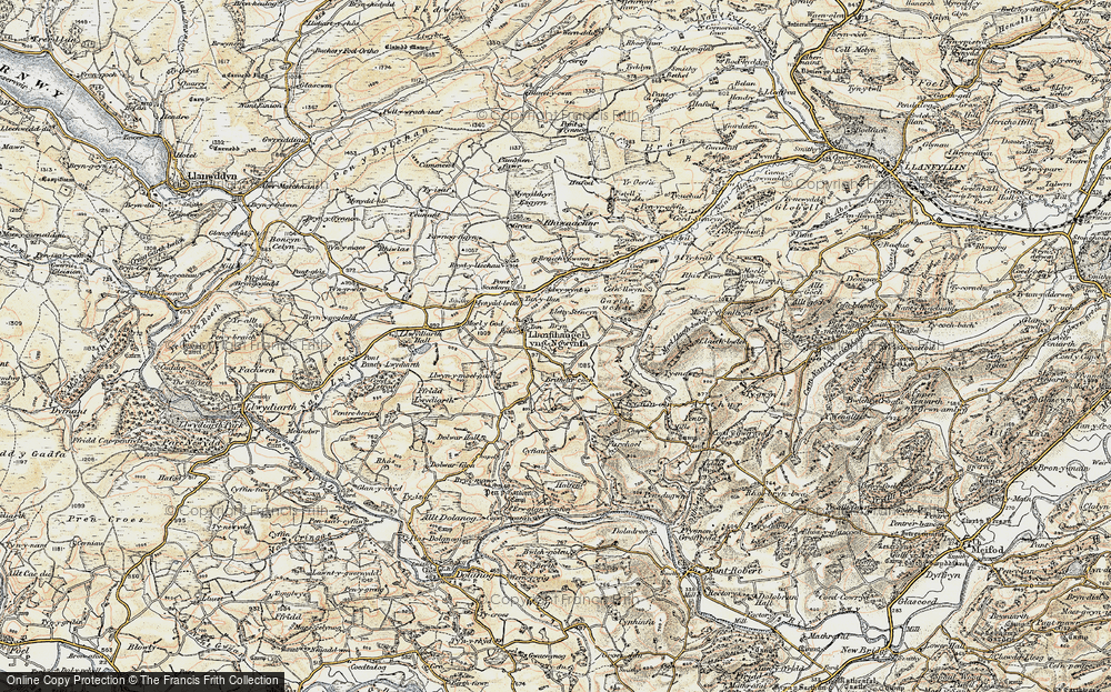Old Map of Historic Map covering Adwywynt in 1902-1903