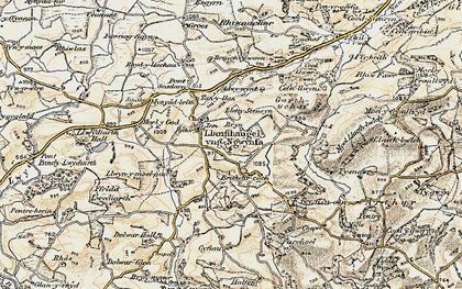 Old map of Adwywynt in 1902-1903