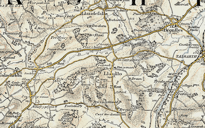 Old map of Allt Filo in 1900-1901