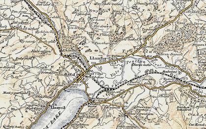 Old map of Y Gloig in 1902-1903