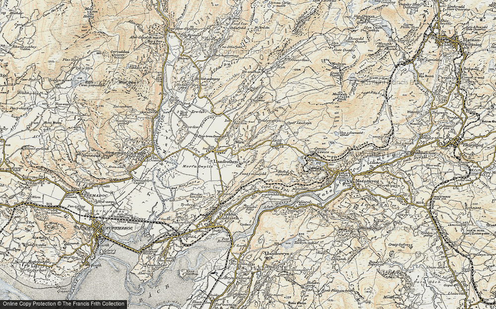 Old Map of Llanfrothen, 1903 in 1903