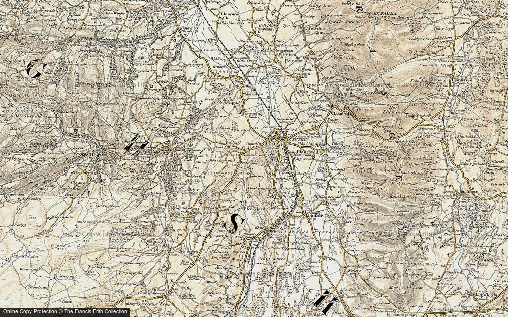 Old Map of Llanfwrog, 1902-1903 in 1902-1903
