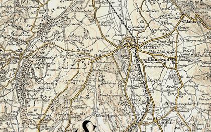 Old map of Llanfwrog in 1902-1903