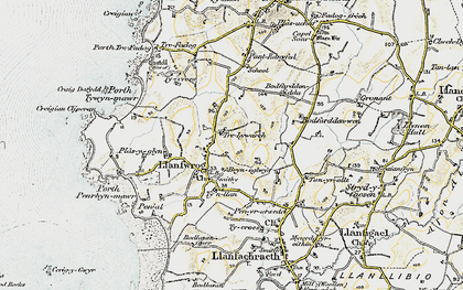 Old map of Llanfwrog in 1903-1910