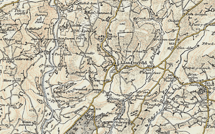 Old map of Allt Enoch in 1900-1901
