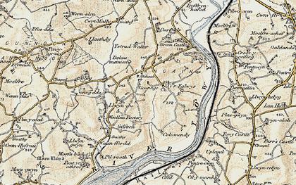 Old map of Ystradwalter in 1901