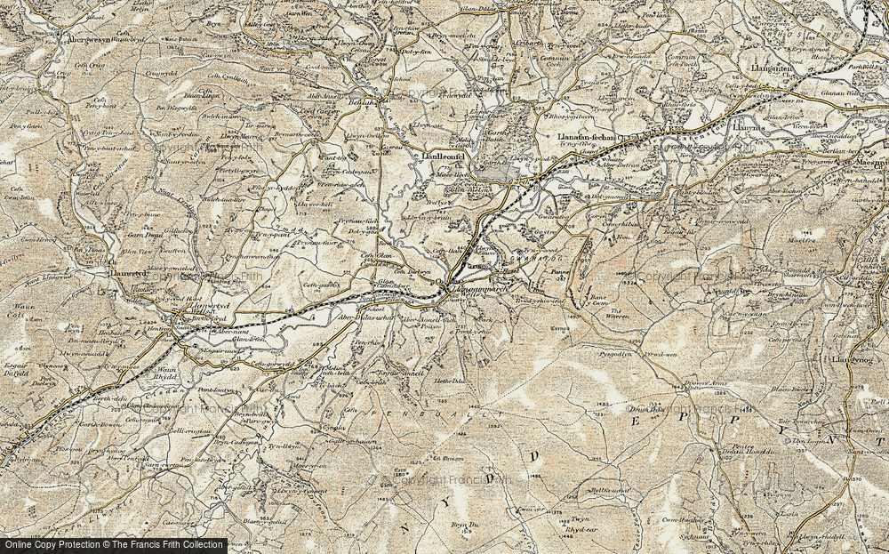 Old Map of Llangammarch Wells, 1900-1902 in 1900-1902