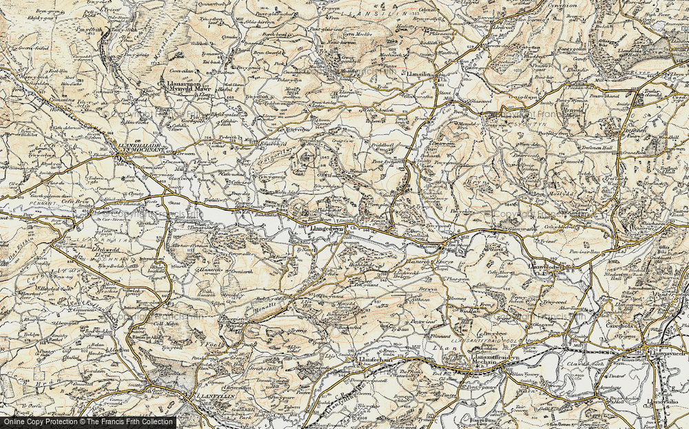 Old Map of Historic Map covering Banhadla in 1902-1903