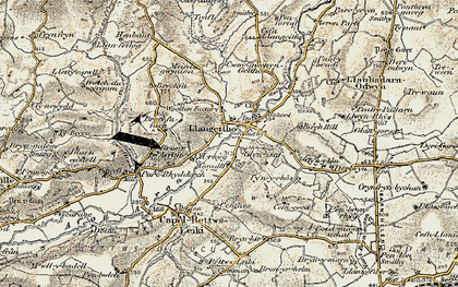 Old map of Aeron Dale in 1901-1903