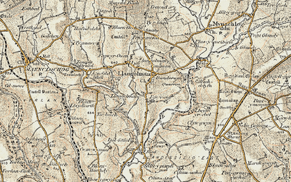 Old map of Alltypistyll in 1901