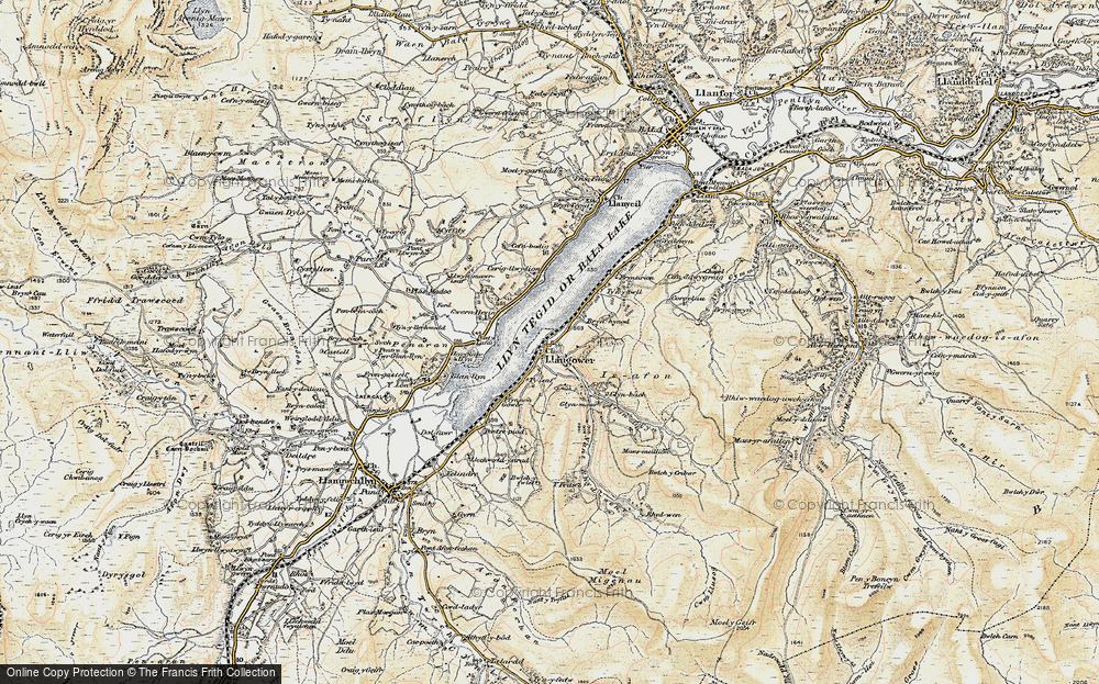 Old Map of Historic Map covering Afon Glyn in 1903