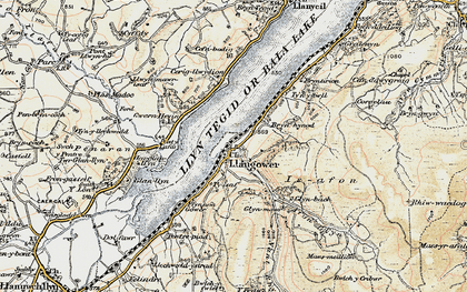 Old map of Tomen y Bala in 1903