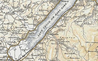 Old map of Afon Glyn in 1903