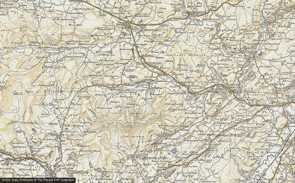 Old Map of Historic Map covering Afon Medrad in 1902-1903