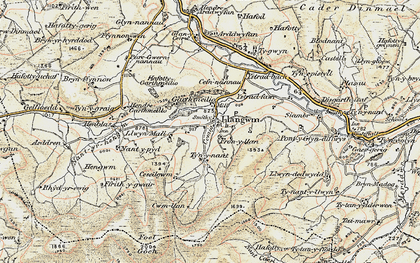 Old map of Aeddren in 1902-1903