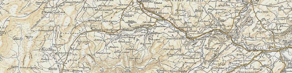 Old map of Aeddren in 1902-1903
