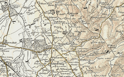 Old map of Bancar in 1902-1903