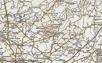 Old map of Ynys Creud in 1903
