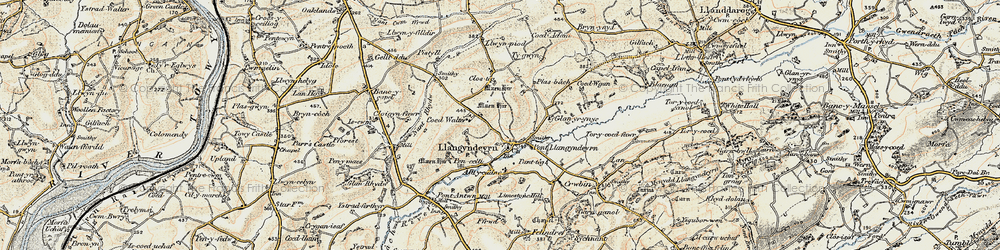 Old map of Alltycadno in 1901