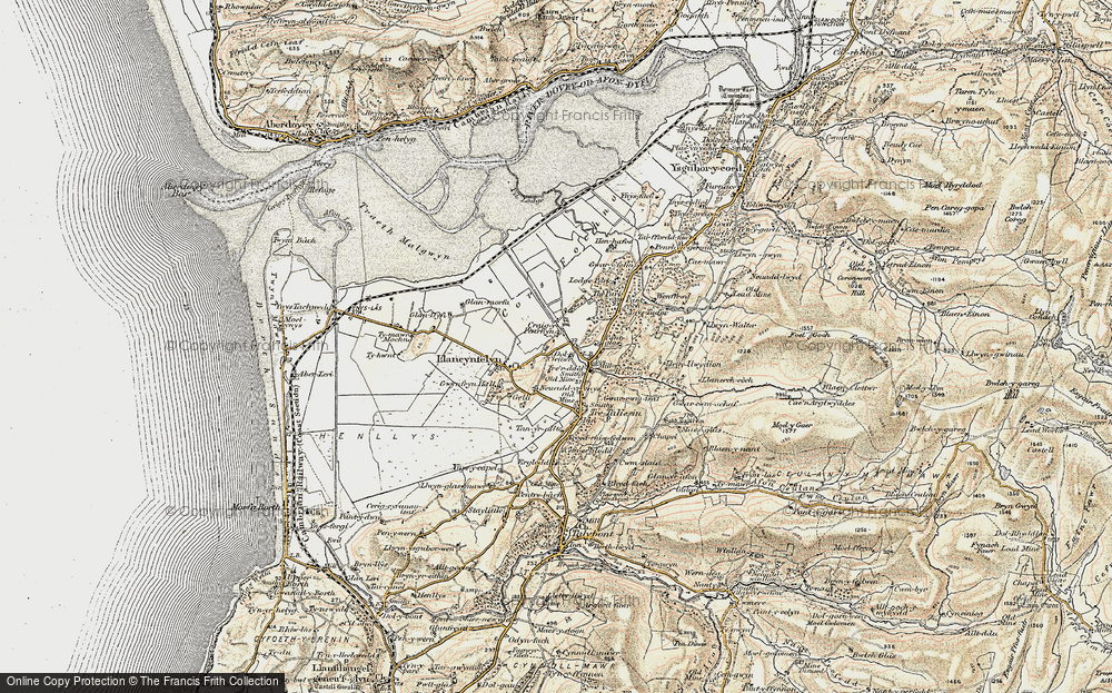 Old Map of Llangynfelyn, 1902-1903 in 1902-1903