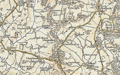 Old map of Woolpitch Wood in 1899-1900