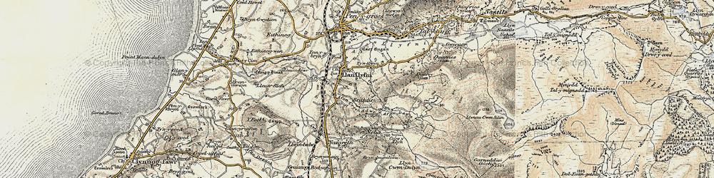 Old map of Llanllyfni in 1903