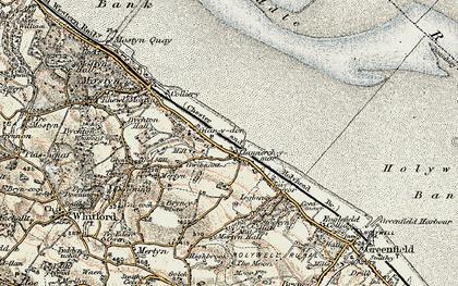 Old map of Llannerch-y-môr in 1902-1903