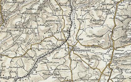 Old map of Alltgaredig in 1901