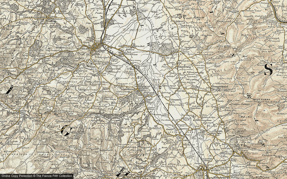 Old Map of Llanrhaeadr, 1902-1903 in 1902-1903
