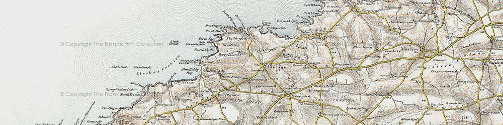 Old map of Llanrhian in 0-1912