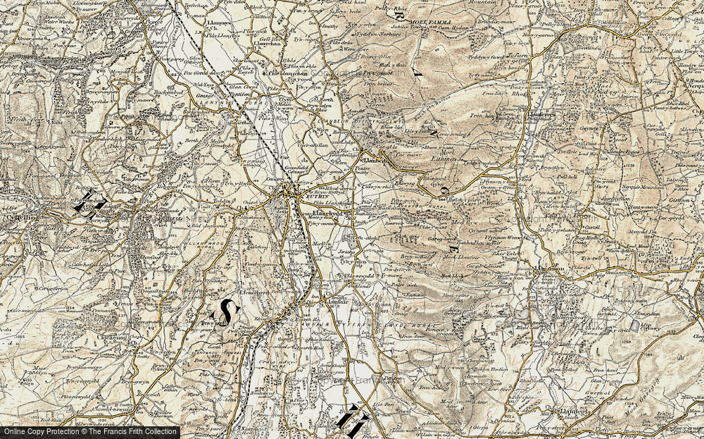 Old Map of Llanrhydd, 1902-1903 in 1902-1903