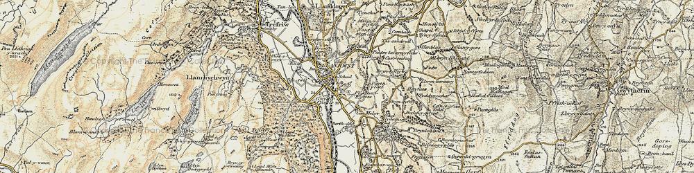 Old map of Llanrwst in 1902-1903
