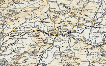 Old map of Llansanffraid-ym-Mechain in 1902-1903