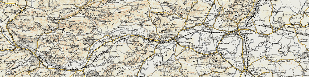 Old map of Y Ffrîdd in 1902-1903