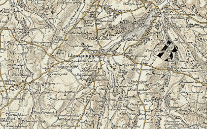 Old map of Acrau in 1902-1903