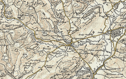 Old map of Wion in 1900-1902