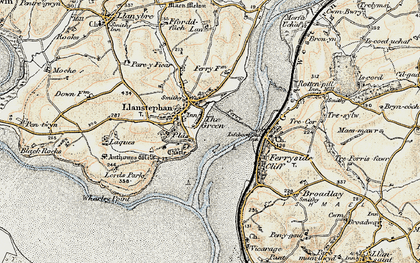 Old map of Wharley Point in 1901
